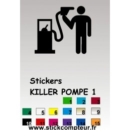 1 Stickers KILLER POMPE 1
