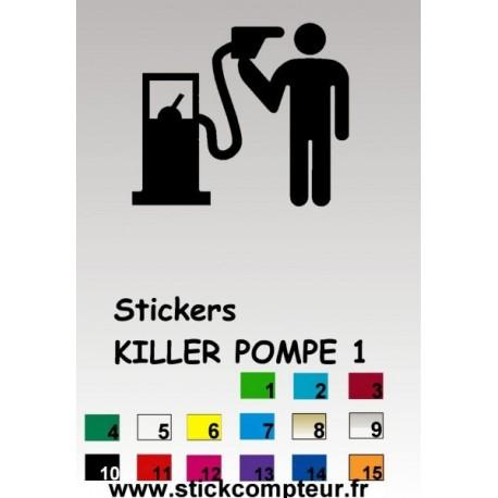 KILLER POMPE 1 Stickers* - StickCompteur création stickers personnalisés