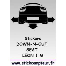 1 stickers Down-n-out SEAT LEON 1M