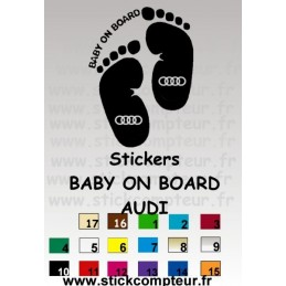 Stickers BABY ON BOARD AUDI 1