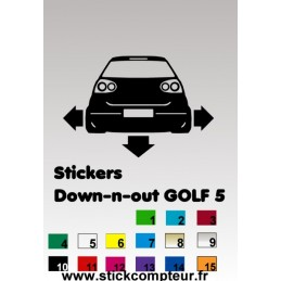 1 stickers Down-n-out GOLF 5 - 3