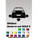 1 stickers Down-n-out GOLF 5