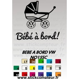 BEBE A BORD VW NO15SC stickers*