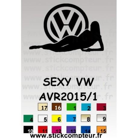 SEXY VW AVR2015/1 - StickCompteur création stickers personnalisés