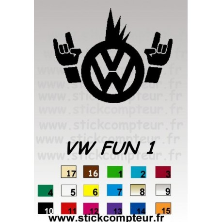 vw fun 1 - StickCompteur création stickers personnalisés