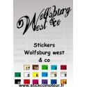 Stickers wolfsburg west & co fond noir