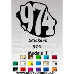 Stickers 974 MODELE 1