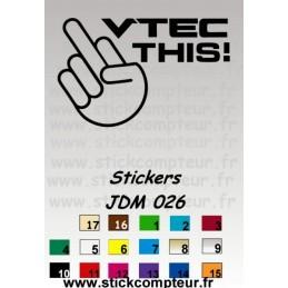 Stickers JDM 026
