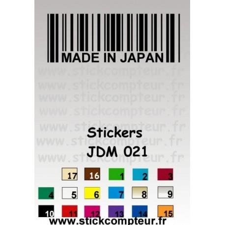 Stickers JDM 021 - StickCompteur création stickers personnalisés