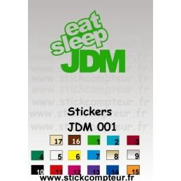 Stickers JDM 001 - StickCompteur création stickers personnalisés