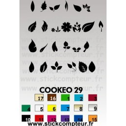 26 stickers COOKEO 29 FEUILLES