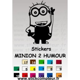 Stickers MINION 2 HUMOUR