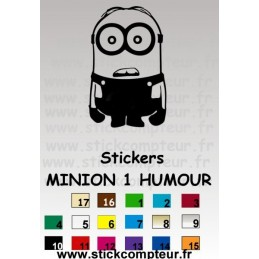 Stickers MINION 1 HUMOUR