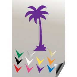 Autocollant PALMIER 1 - StickCompteur création stickers personnalisés