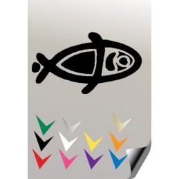 Autocollant POISSON 1 - StickCompteur création stickers personnalisés