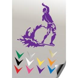 Autocollant SURFEUR 1 - StickCompteur création stickers personnalisés