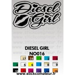 DIESEL GIRL NO016 - StickCompteur création stickers personnalisés