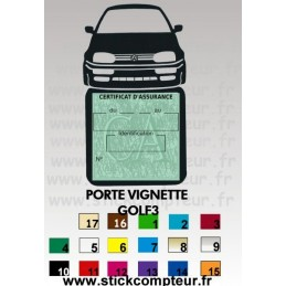 Porte Vignette Assurance VW GOLF 3