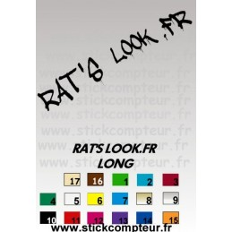 Stickers RAT'S LOOK.FR LONG