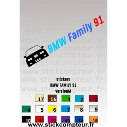 Stickers BMW FAMILY 91 versionM