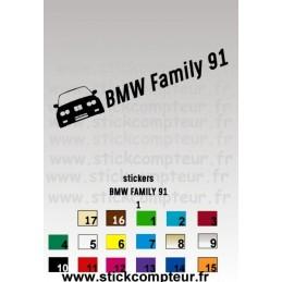 Stickers BMW FAMILY 91 stickers 1 - StickCompteur création stickers personnalisés