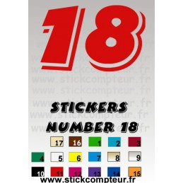 Stickers NUMBER 18