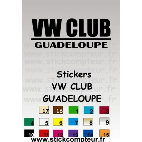 Stickers VW CLUB GUADELOUPE - 4