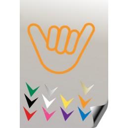 Autocollant MAIN 2 - StickCompteur création stickers personnalisés
