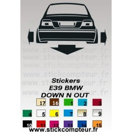 Stickers DOW-N-OUT BMW E39