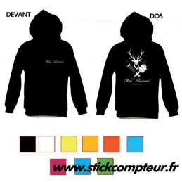 SWEAT-SHIRT NOIR West Lowered - StickCompteur création stickers personnalisés