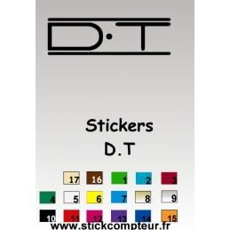 1 stickers DT - 1