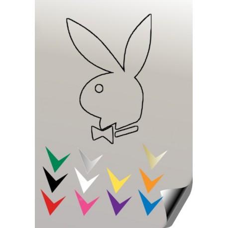 Autocollant lapin PLAYBOY 10 - StickCompteur création stickers personnalisés