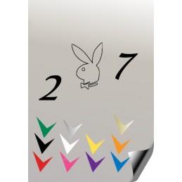 Autocollant 207 PLAYBOY 4 - StickCompteur création stickers personnalisés