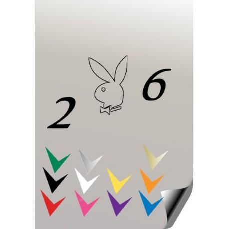 Autocollant 206 PLAYBOY 3 - StickCompteur création stickers personnalisés