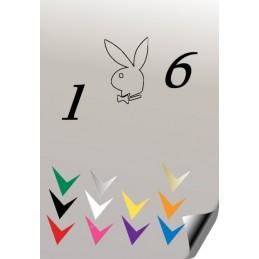 Autocollant 106 PLAYBOY 1 - StickCompteur création stickers personnalisés