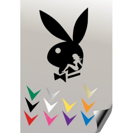 Autocollant lapin PLAYBOY 9 - StickCompteur création stickers personnalisés