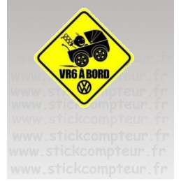 Stickers VR6 A BORD JAUNE