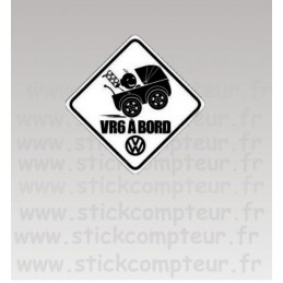 Stickers VR6 A BORD BLANC