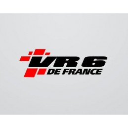 Stickers VR6 DE FRANCE 2 couleurs nouvelle version 2016