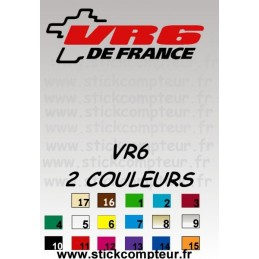 Stickers VR6 DE FRANCE 2 couleurs