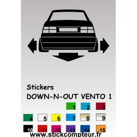 1 stickers Down-n-out VENTO - 4