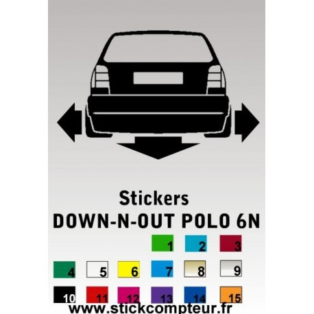 1 stickers Down-n-out POLO 6N