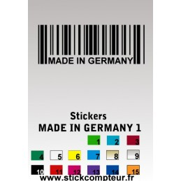 Stickers made in germany 1 - StickCompteur création stickers personnalisés