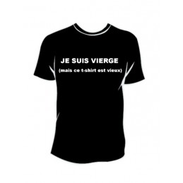 TEE-SHIRT col rond manches courtes JE SUIS VIERGE - 1