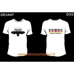 TEE-SHIRT DOWN-N-OUT CRRADO devant et MADE IN GERMANY 2 derriere