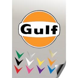 1 stickers autocollant GULF VW