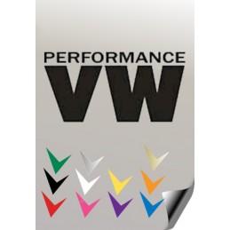 Autocollant VW PERFORMANCE - StickCompteur création stickers personnalisés