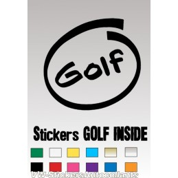 Stickers GOLF INSIDE