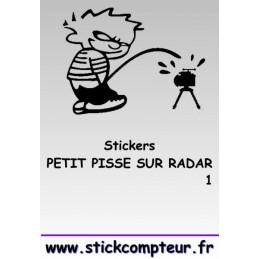 PETIT PISSE RADAR 1 STICKERS *