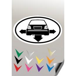 Autocollant EMBLEME 1GOLF 3 VW